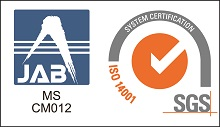 MS JAB CM012, SYSTEM CERTIFICATION ISO 14001:2004 SGS